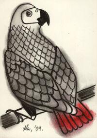 Jan ACEO parrot