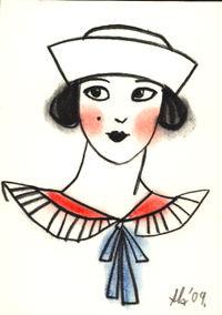 Feb Little ACEO sailor