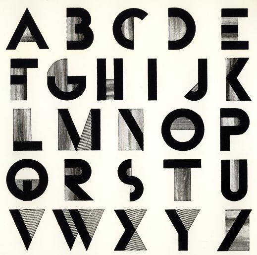 Art Deco Alphabet This Font