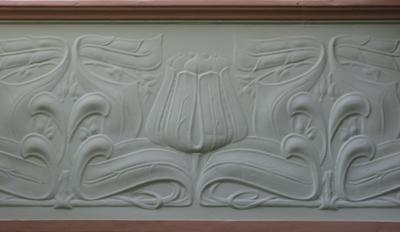Art Nouveau plaster work