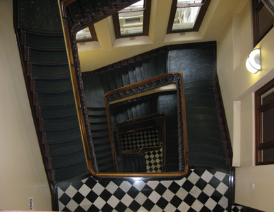 The Department of lands staircase