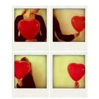 Set of 4 Valentine heart