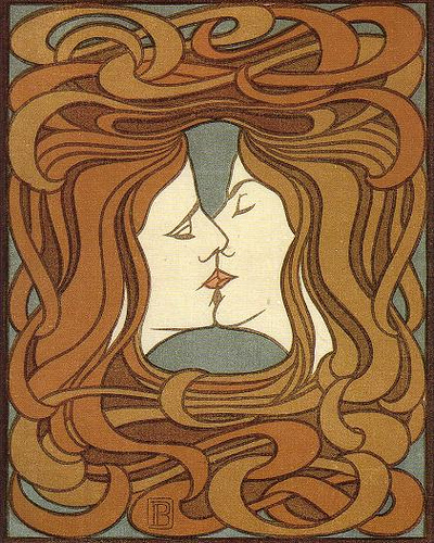 Peter Behrens_the kiss_1898