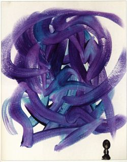 Study in Purple and Turquoise #6 Water (2001)