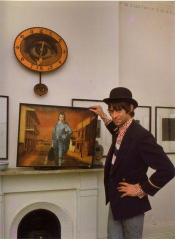 Martin Sharp in Yellow House