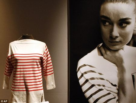 Audrey Hepburn's Mark Cross red and white striped top