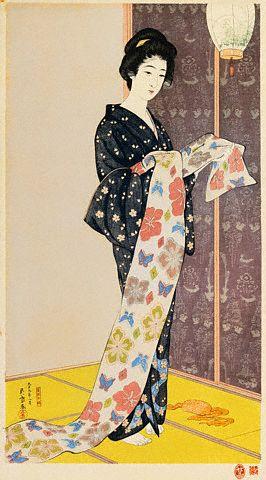 Goyo,Young woman in Summer Kimono 1920
