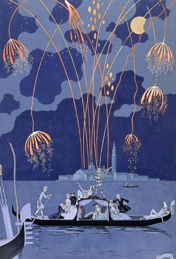Fireworks in Venice George Barbier