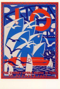 Sydney Opera House poster Martin Sharp