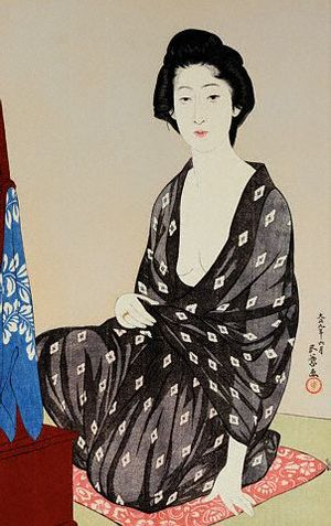 Goyo, Tsuru Nakatani as a young beauty in Gauze Robe 1920