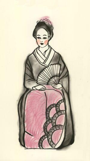 February Geisha Reflecting 2