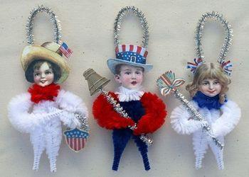 Patriotic American Chenille ornaments