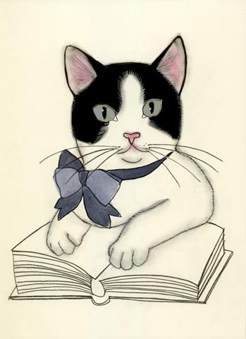 Literary kitten 2  Matou en Peluche