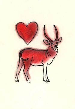 Deer Heart Matou en Peluche