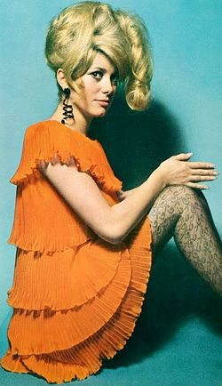 Catherine deneuve  vogue uk 1966