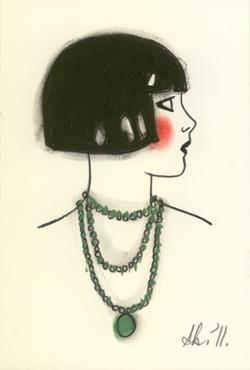 Flapper in emeralds Matou en Peluche