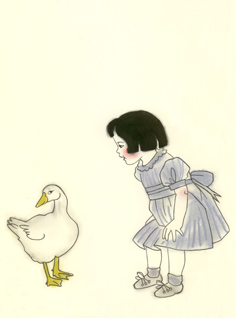 Ruthie and the goose Matou en Peluche