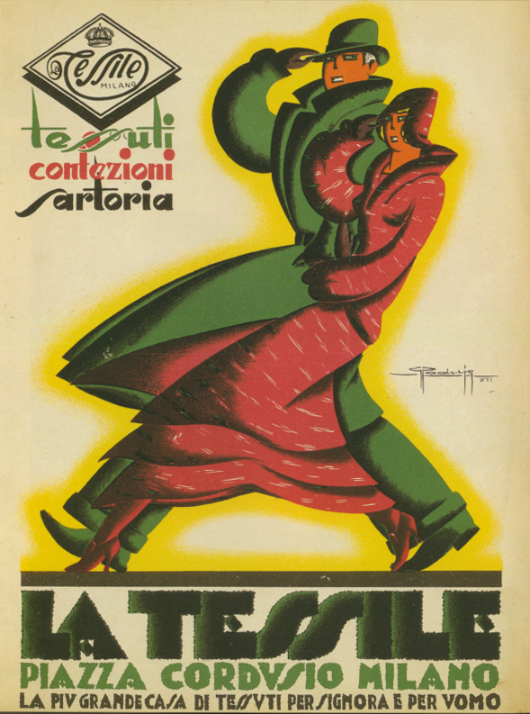 Art Deco La Tessile Matou en Peluche