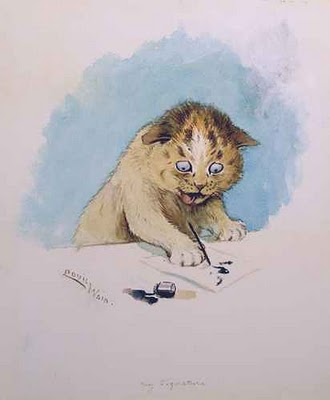 Louis Wain-my signature