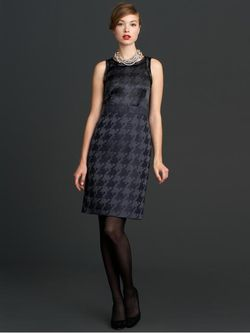 BR-houndstooth dress