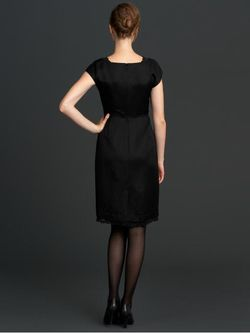 BR-lace tipped dress
