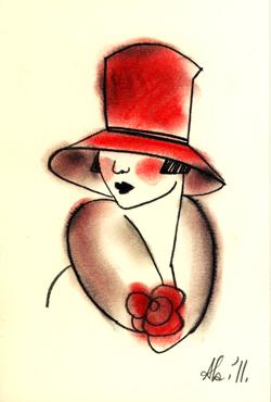 Red Top Hat Matou en Peluche