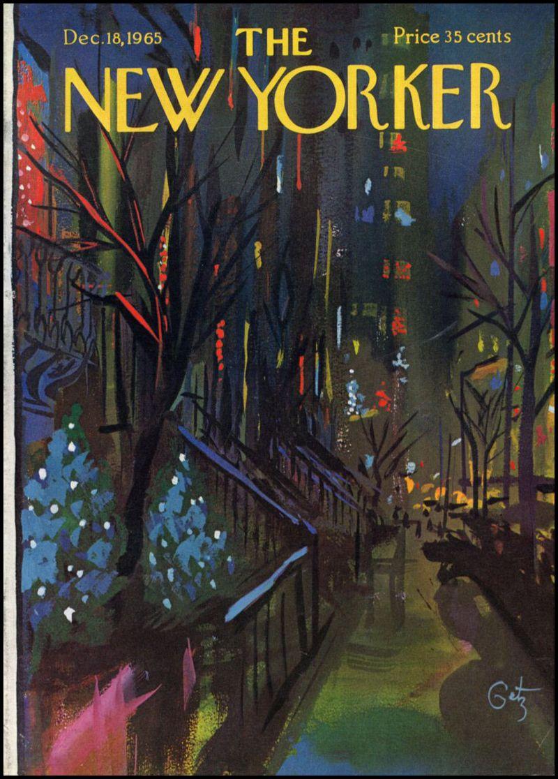 New yorker christmasArthurGetz_NewYorker_1965-12-18