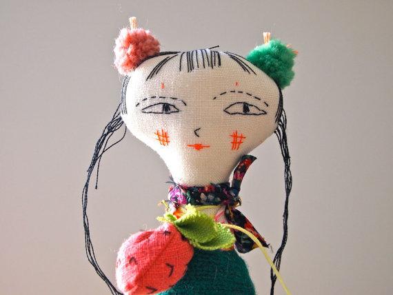 Textile-art-doll