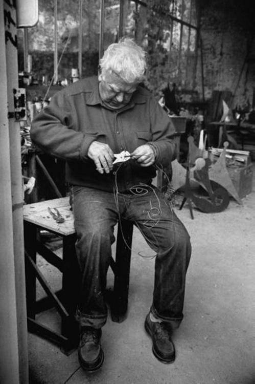 Alexander_Calder in the studio