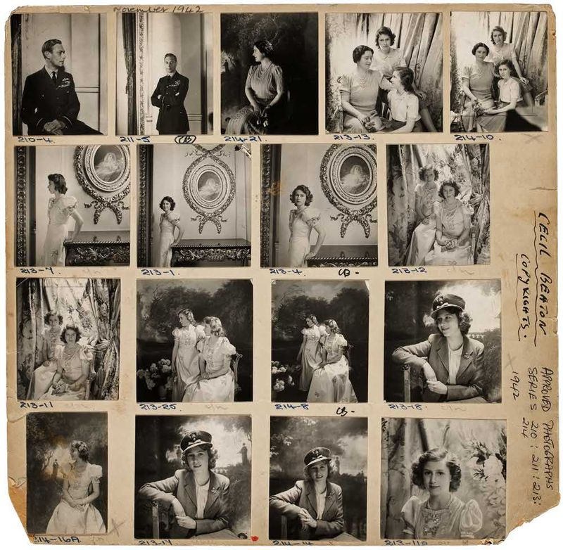 Contact_Sheet_The_Royal_Family_Cecil_Beaton