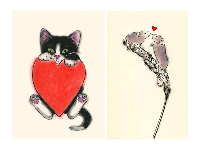 Matou_en_Peluche_Valentine's Day_Prints